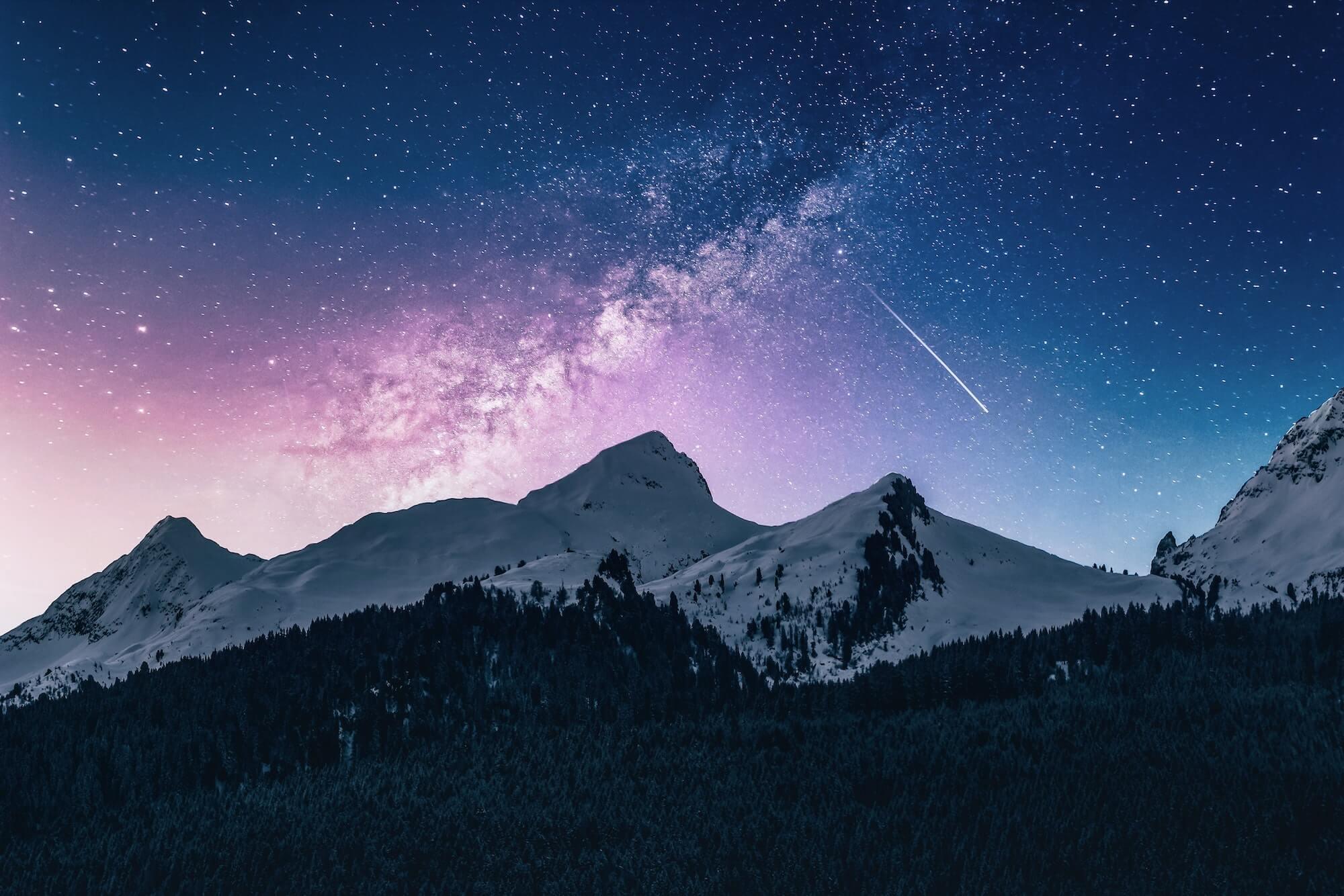 Nachthimmel Sterne Erfolg Training GMWGROUP