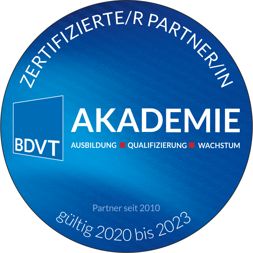 BDVT Akademie zertifizierter Partner seit 2010 GMWGROUP