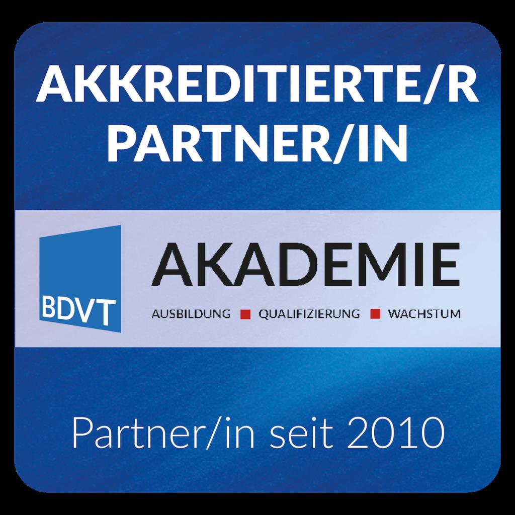 GMWGROUP BDVT Akademie akkreditierter Partner Logo seit 2010